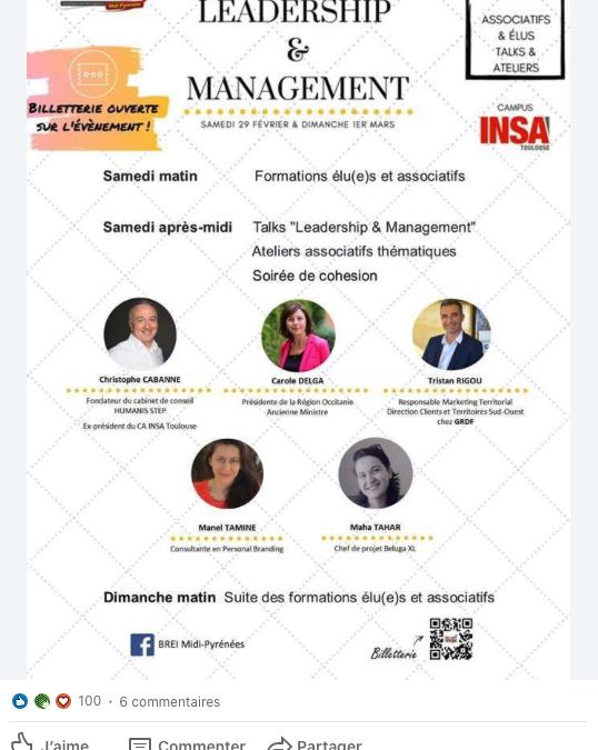 Conférence sur le leadership auprès d'étudiants élus